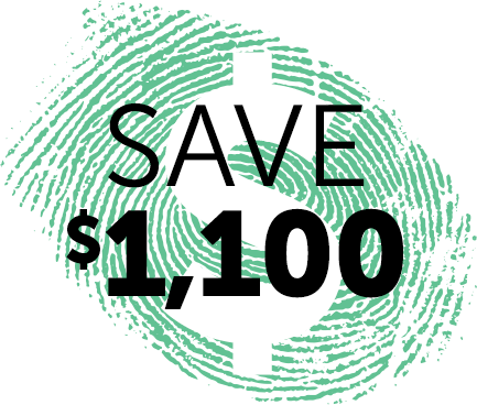 SAVE $1,100